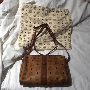 MCM crossbody bag cognac in euc w/dust bag